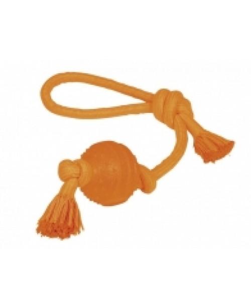 Играчка TPR с въже -  оранжева -  NOBBY Германия - 2 размера - Кучета